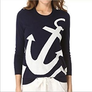 Joie Anchor nautical wool cashmere blend sweater